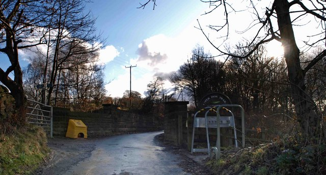 Access point onto the Trans Pennine Trail