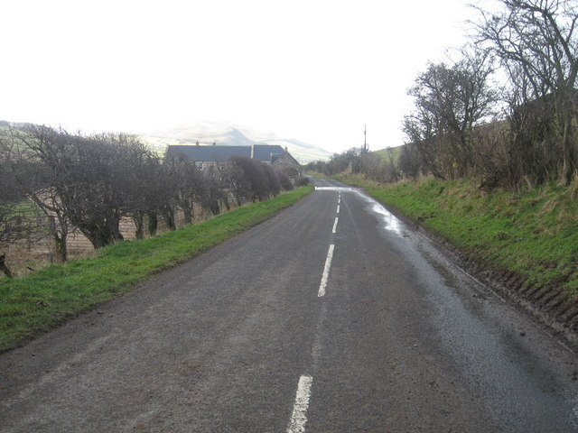 Country road heading to Town Yetholm