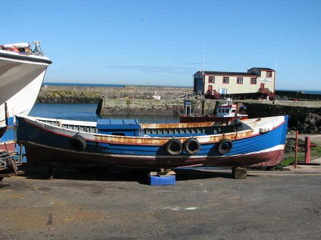 Fishing boat at St Abbs Harbour