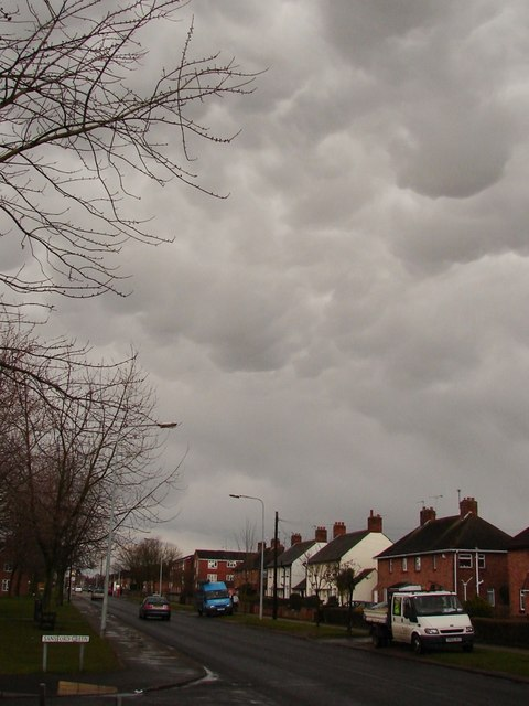 Moorland Avenue under the clouds