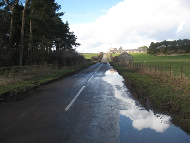 Looking along the B6496