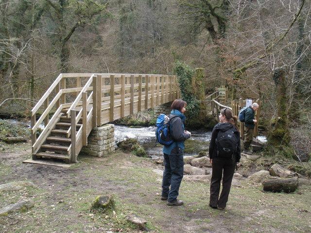 New footbridge, across the River Bovey