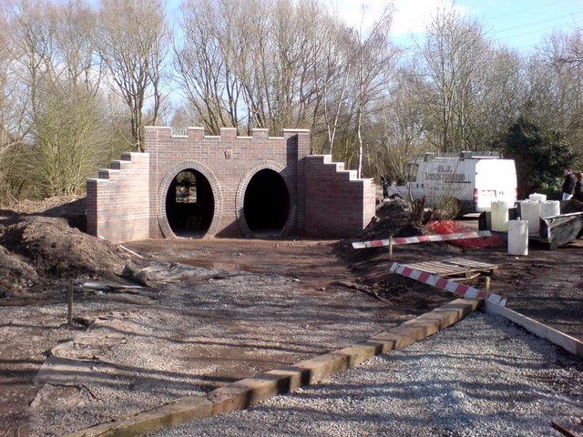 New tunnel on the Echill's Wood Railway