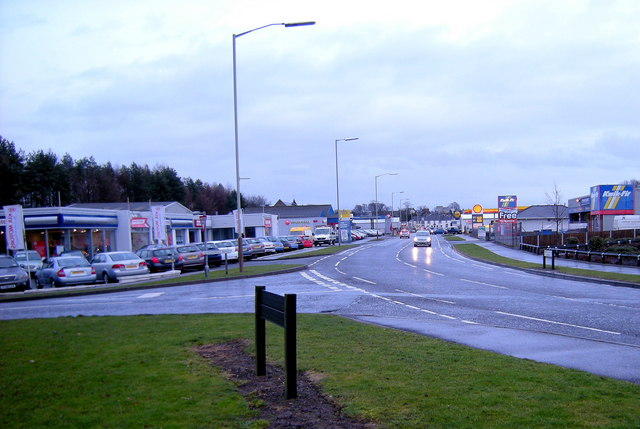 View of Queenswell Road, Forfar looking east