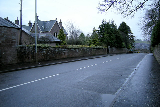 Bankhead Road, Forfar, looking south