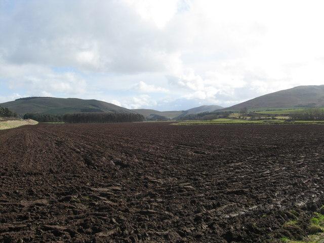 Freshly ploughed field near Thornington