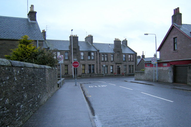 Taylor Street, Forfar approaching its junction with Brechin Road