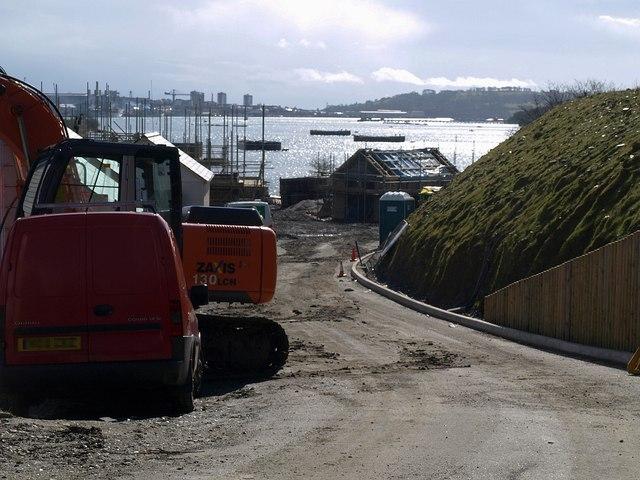 Building site, former sewage works