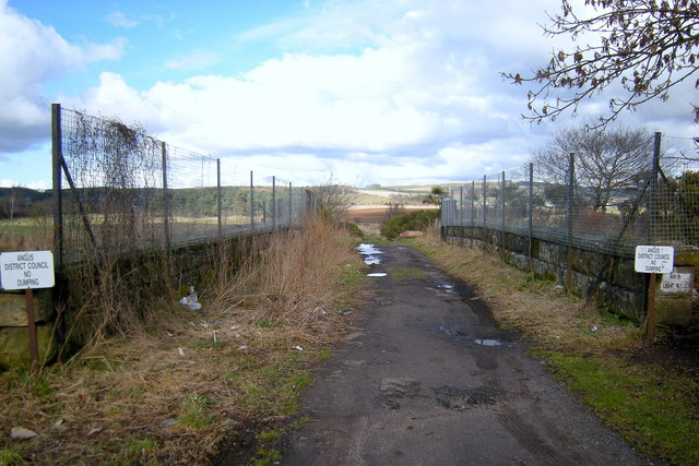 Bridge over Dismantled Railway, Forfar  near St. Margarets Place