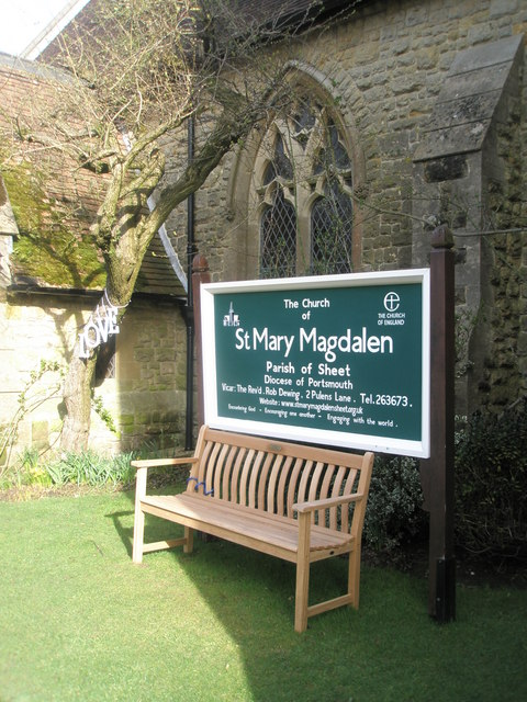Seat outside St Mary Magdalen, Sheet