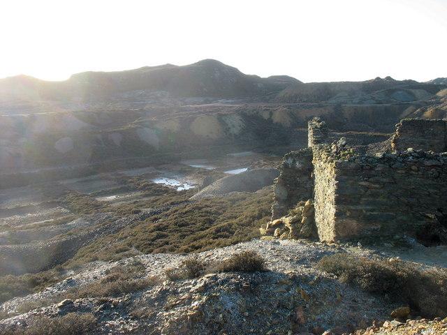Precipitation ponds at Mona Mine