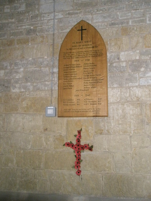 Great War Memorial within St Mary Magdalen, Sheet