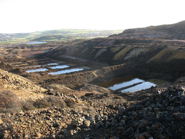 View eastwards across the precipitation ponds at Mona Mine