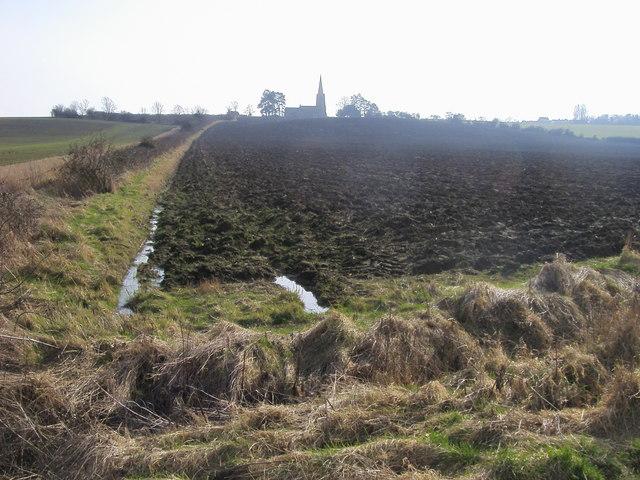 Across the fields to Little Staughton Church