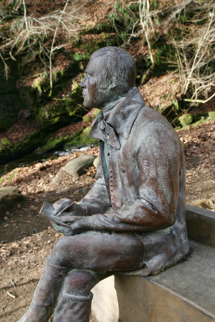 The Birks of Aberfeldy: Robert Burns statue