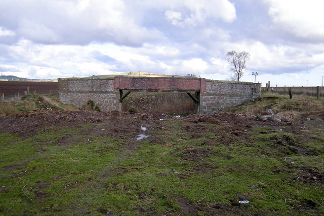 View of Railway bridge over the Dismantled Railway looking towards Lunanhead
