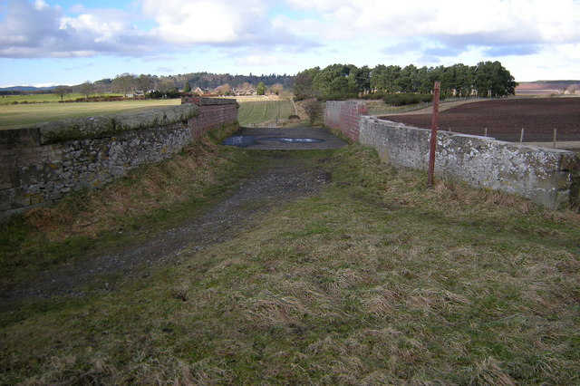 View of Railway bridge over the Dismantled Railway near Whitehills, Forfar,  looking north