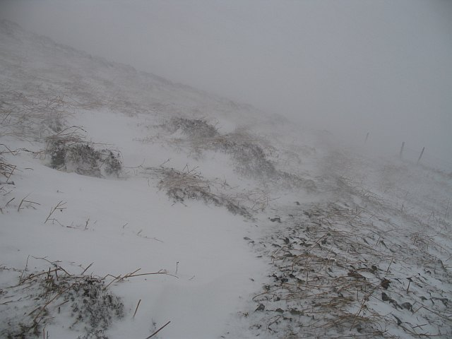 Blowing snow, Silverburn Quarry
