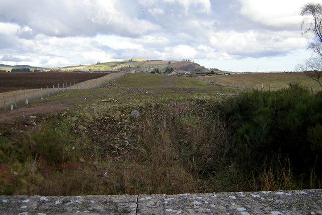 View of Dismantled Railway near Forfar, looking east towards Lunanhead