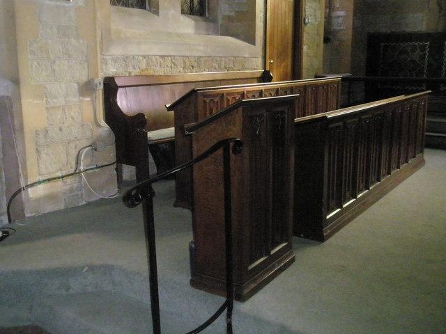 Choir stalls at St Mary Magdalen, Sheet