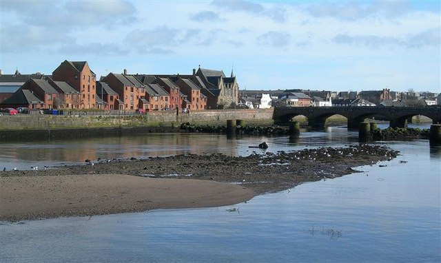 Ayr Harbour At Low Tide