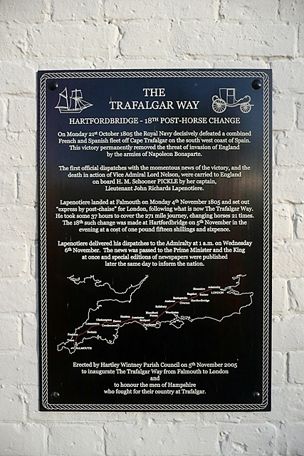 The Trafalgar Way - 18th post-horse change
