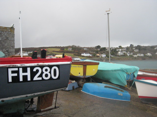 Fishing boats at Coverack harbour