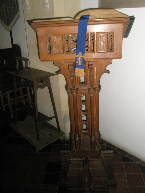 The lectern at St John the Evangelist, Langrish