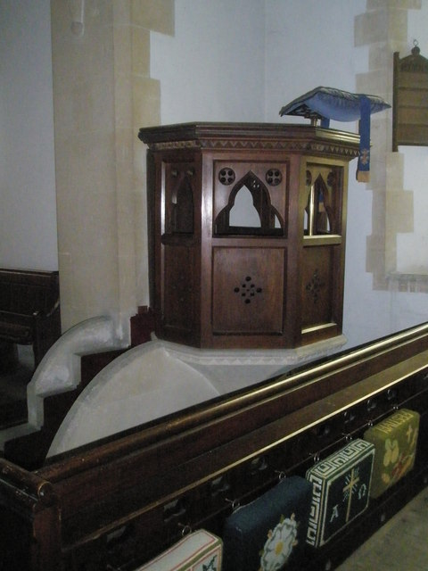 The pulpit at St John the Evangelist, Langrish