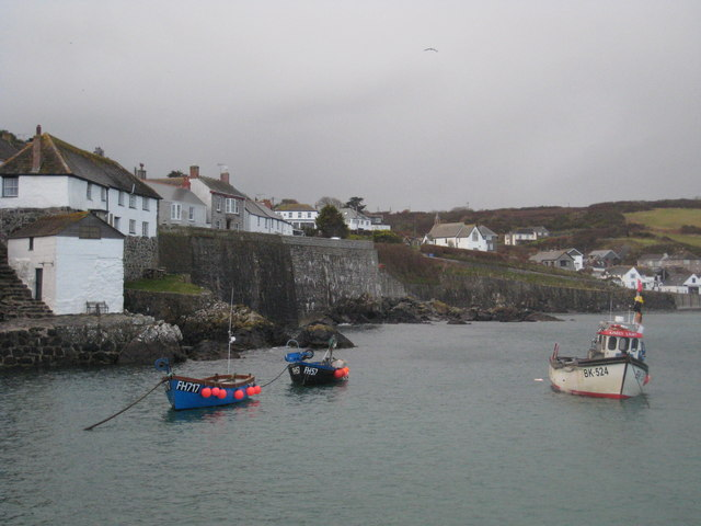 A grey March day at Coverack harbour