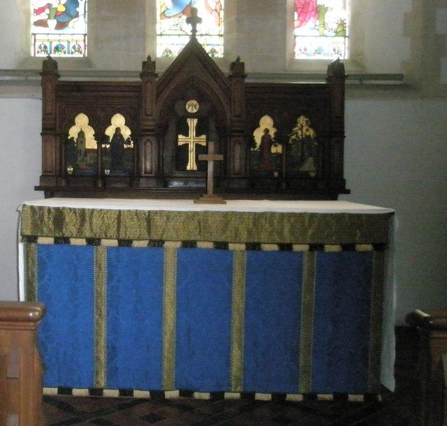 The main altar within St John the Evangelist, Langrish