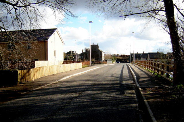 Suttieside Road Forfar, near its junction with Caledonian Way