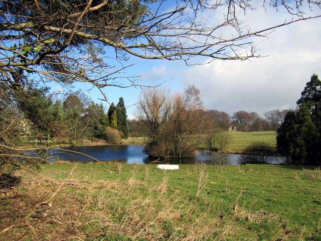 Pond near Haughton Castle