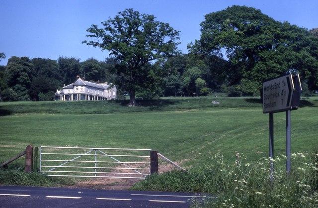 Looking towards Bury Lodge