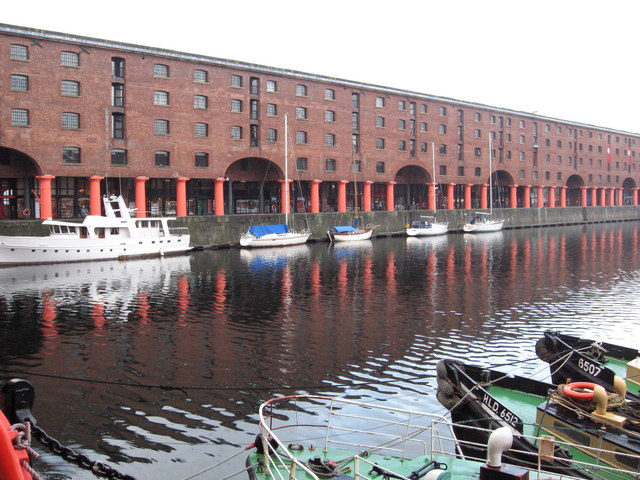 A view of the shops at The Albert Docks