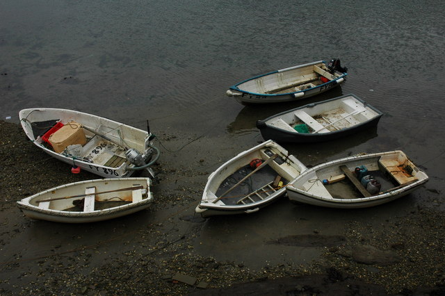 Boats in Mevagissey Harbour