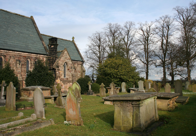 Graveyard of St Peter's Church, near Bradfield Green