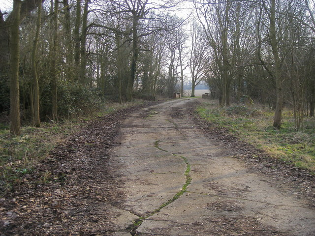 Old drive up towards Melchbourne House