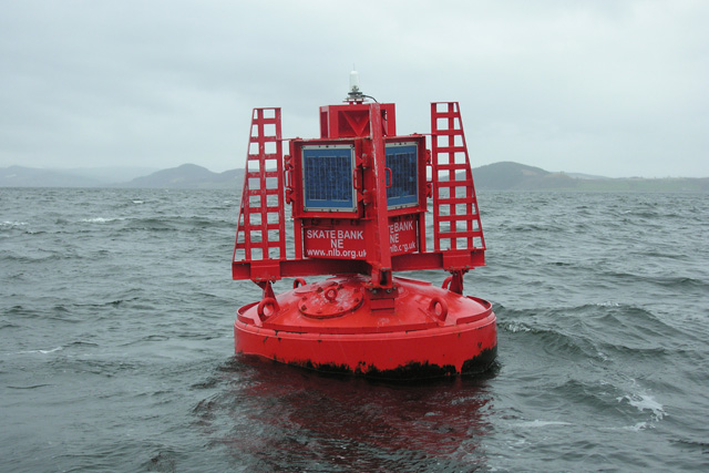 Skatebank NE navigation buoy, Inverness Firth