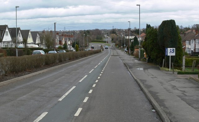 East along Leicester Road in Groby