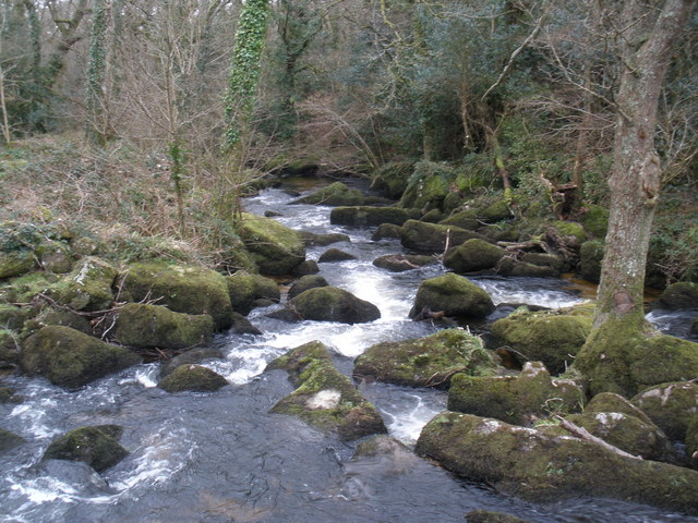 Rapids, on the River Bovey, at Foxworthy Bridge