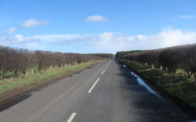 The road leading away from Wark