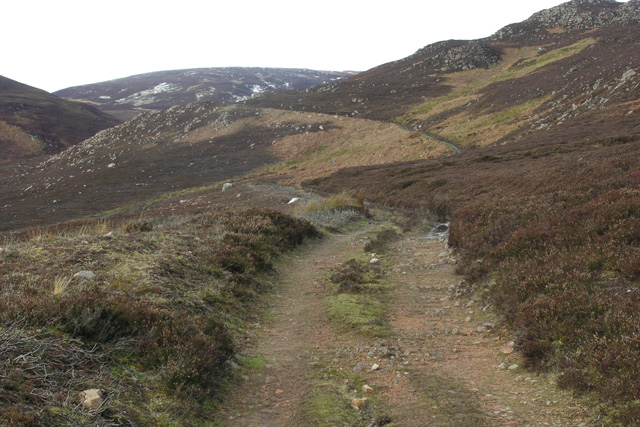 Track heading into hills above Gartymore