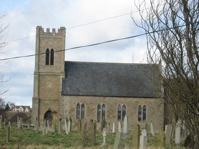 Carham Parish Church dedicated to St. Cuthbert