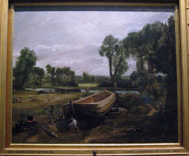 "Constable's ""Boat Building near Flatford Mill"""