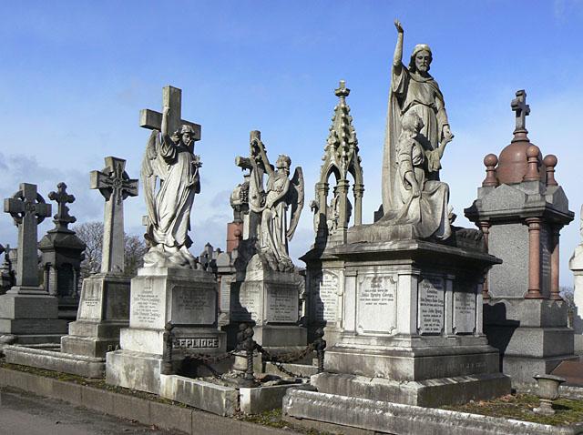 Victorian graves