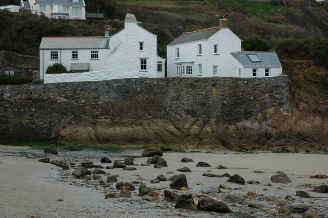 Houses on the seafront