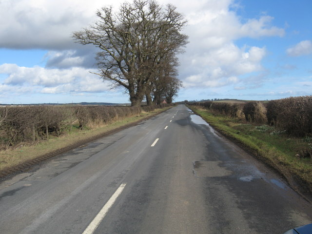 The Kelso to Cornhill road