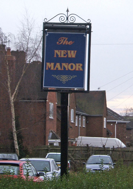 The New Manor pub sign, 76 Minster Road