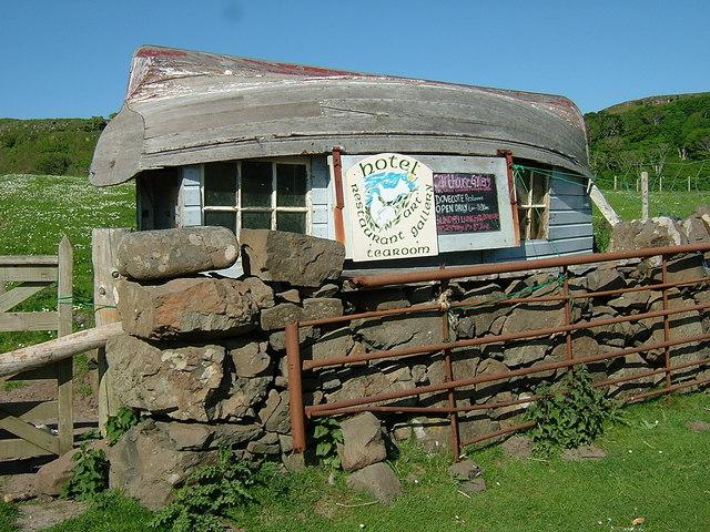 Upside-down boat hut! Calgary Bay